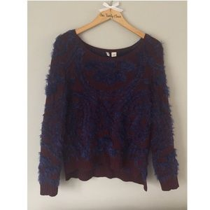 {Moth} Anthropologie Fuzzy Sweater Size LP